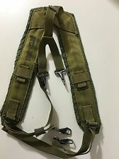 US Military OD LC1 Y Individual Suspenders Load Bearing Adjustable Harness
