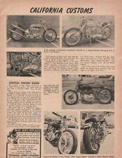 1961 Unusual Vincent Rapide, Bill Cottom, San Pedro - Vintage Motorcycle Article