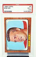 1966 Topps Boston Patriots BOB DEE Vintage Football Card PSA 5.5 EXCELLENT