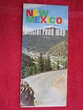 c1968 NEW MEXICO OFFICIAL STATE ISSUED ROAD HIGHWAY MAP