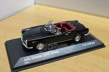 MINICHAMPS 400120630 Alfa Romeo 2600 Spider Cabriolet 1964 Black 1/43 #NEW