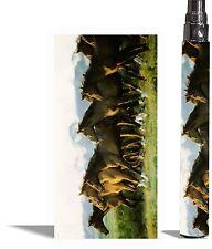 Battery Sticker Sticker Skin Fits eGo Type/Other Vape Vinyl Vape Wraps -HORSES 2
