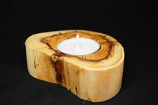 Bashley Art - Ideal Gift - personalised yew tealight holder from the New Forest