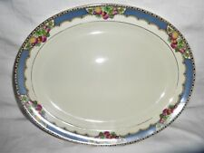 VINTAGE BOOTHS CEYLON IVORY SILICON CHINA  Orchard Pattern 1920s Platter