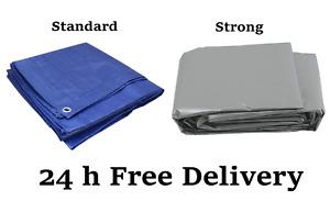 HEAVY DUTY Tarpaulin Cover Tarp Ground Camping Sheet Multipurpose