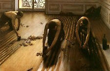 Framed Print - The Floor Scrapers by Gustave Caillebotte (Picture Replica Art)