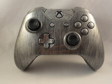 Xbox One Metallic Silver Wireless 3.5mm Controller - Blue LED Rapid fire Modded