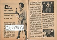 1961 Tv Article~Gerry Johnson~Red Rowe~Effie Bowen~Panorama Pacific~KNXT