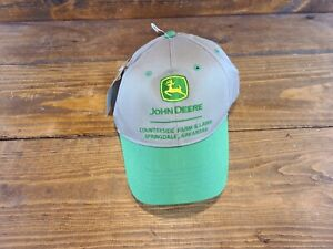 John Deere Authentic Licensed Green Beige Snapback Hat/Cap NEW