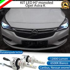 KIT LED H7 OPEL ASTRA K 6500K CANBUS 12000 LUMEN MONO LED MONOLED LENTICOLARE