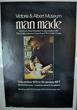 Victoria and Albert V&A Museum Poster Man Made Crafts Advisory Council '76-'77