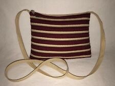 "Zipper Bag 100% Zipper Crossbody Bag Burgundy Natural 9""x7"" Super Cool!"