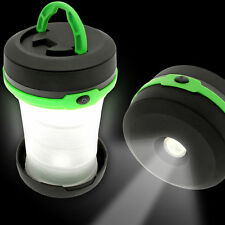NEW Collapsible LED Mini Lantern Lightweight Hiking Camping Waterproof +Battery
