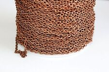 32ft Red Copper 4x3mm Cable Chain 1-2 day Shipping