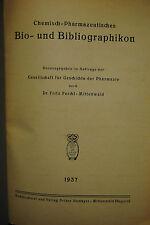 Ferchl - Chemisch-pharmazeutisches Bio- und Bibliographikon - 1937
