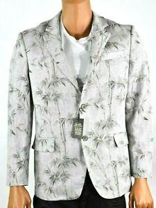 Tasso Elba Island Mens Gray Sports Coat Jacket S M L XL XXL 3XL New Linen Beach