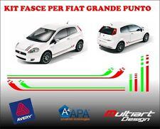 BANDAS ADHESIVO STICKERS FIAT GRANDE PUNTO TIRAS ADHESIVO BANDERA ITALIANA SET