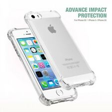 Ultra Slim Clear Transparent Gel Shockproof Case Cover Skin For iPhone 5 5S & SE