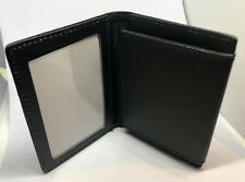 Leather ID Wallet / Holder, Black, Police, Security