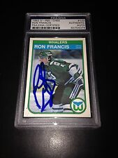 Ron Francis Signed 1982-83 OPC Rookie Card Whalers PSA Slabbed #83704374