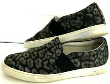 Lanvin Womens Slip On Sneakers Flats ANIMAL PRINT Size 38 8 Canvas SHOES