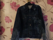 vtg LEVIS denim TRUCKER jacket INDIGO 38 chest FITTED faded RED TAB hipster