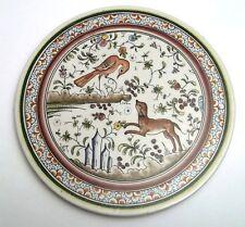 plateau en céramique, décorée main, 25 cm diamètre, signée  G-T3