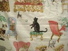Bloomcraft Fabric P-610 Cats Furniture 46 Inch Screen Print Feline Discontinued