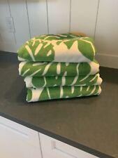 Pottery  Barn Beach Towels- Set of 4 Palm Leaf Design