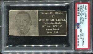 1969 Fairmont Dairy Chiefs Willie Mitchell PSA AUTHENTIC Kansas City