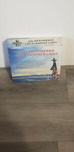 Solar powered led flagpole light free fast shipping