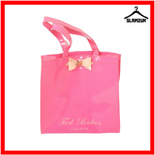 Ted Baker Pink Tote Shopping Shopper Bag Bow Large Shopper Bag PVC Damaged