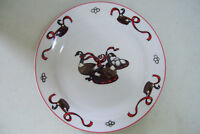 """Home for the Holidays Geese a-Laying Christmas  10 3/4""""  Dinner Plate  by E.D.I."""