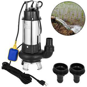 6340GPHSump Pump 1.5HP Industrial Sewage Cutter Grinder Cast iron Submersible