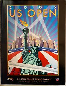 2005 OFFICIAL US OPEN TENNIS CHAMPIONSHIP PROGRAM FEDERER CLIJSTERS 224 PAGES