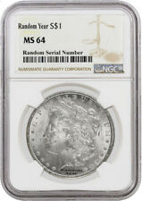 Random Year (1878 - 1904) $1 Morgan Silver Dollar NGC MS64