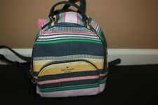 NWT Kate Spade Jackson boardwalk stripe medium Backpack Satchel Small BAG