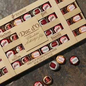 Luxury Duc d'O Wooden Crate Chocolate Sugar Crusted Liqueurs Gift Box Giant 500g