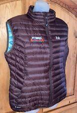 RAB Pertex Microlight Brown Zip Up Down Vest Gilet Packable Size L