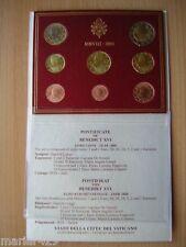 SERIE EURO DIVISIONALE VATICANO 2008 VATIKAN BENEDETTO XVI
