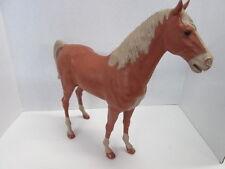 Vintage 1967 Marx Johnny West Sorrel Thunderbolt Bravo horse with wheels