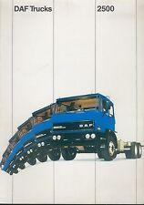 DAF 2500 Trucks Prospekt NL brochure 1970 Lastwagen Lkw Niederlande Europa