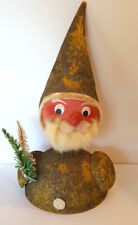 Huge German Bobble Head Santa or Elf 1940's -1950's Candy Container Top