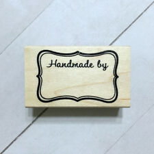 Rubber Stamp Handmade By Label Tag Wood Mounted Recollections