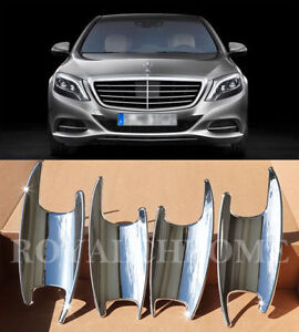 US STOCK x4 CHROME Door Handle Bucket Cups for Mercedes W222 S Class Maybach