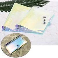 a5/a6 transparent laser binder loose leaf ring binder notebook planner coveDDAU