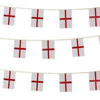England Rugby Bunting St George Cross Large Flag 6 Nations Football 10m Long
