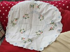 Round Embroidered Table Cloth 32cms