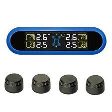 Solar Car Tire Pressure Monitoring Tpms System Monitor & 4 External  Sensors