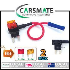 Carsmate 2x Blade Fuse Tap Holder Add A Circuit ATM APM Car Truck 5A & 10A Mini